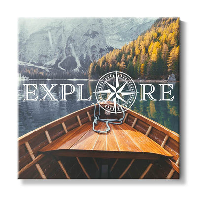 Explore - Travel Art - Boat on Lake - Close Up