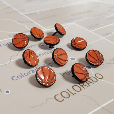 Basketball Novelty Pins Main Image - Set of 10 closeup