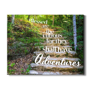 Blessed are the curious for they shall have adventures - Travel Decor - Close up