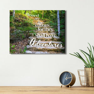 Blessed are the curious for they shall have adventures - Travel Wall Art