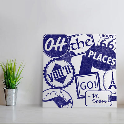Oh the places you'll go - Blue Quote Art