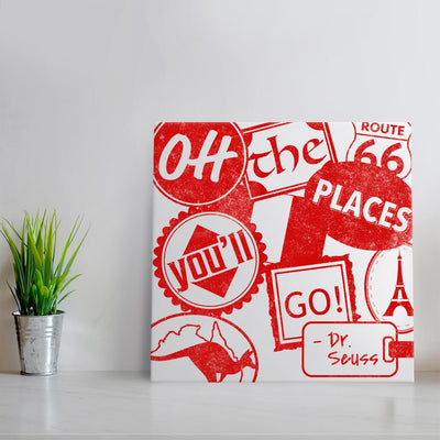 Oh the places you'll go - Red Quote Art