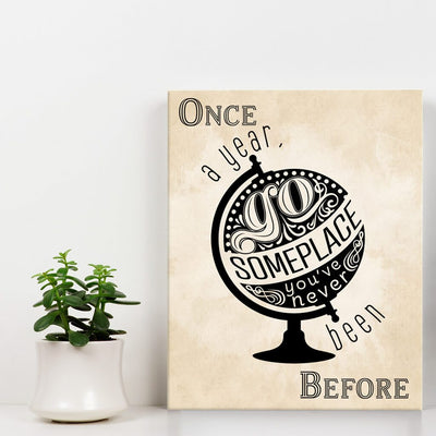 Once a year go someplace - Wall Art - Vintage