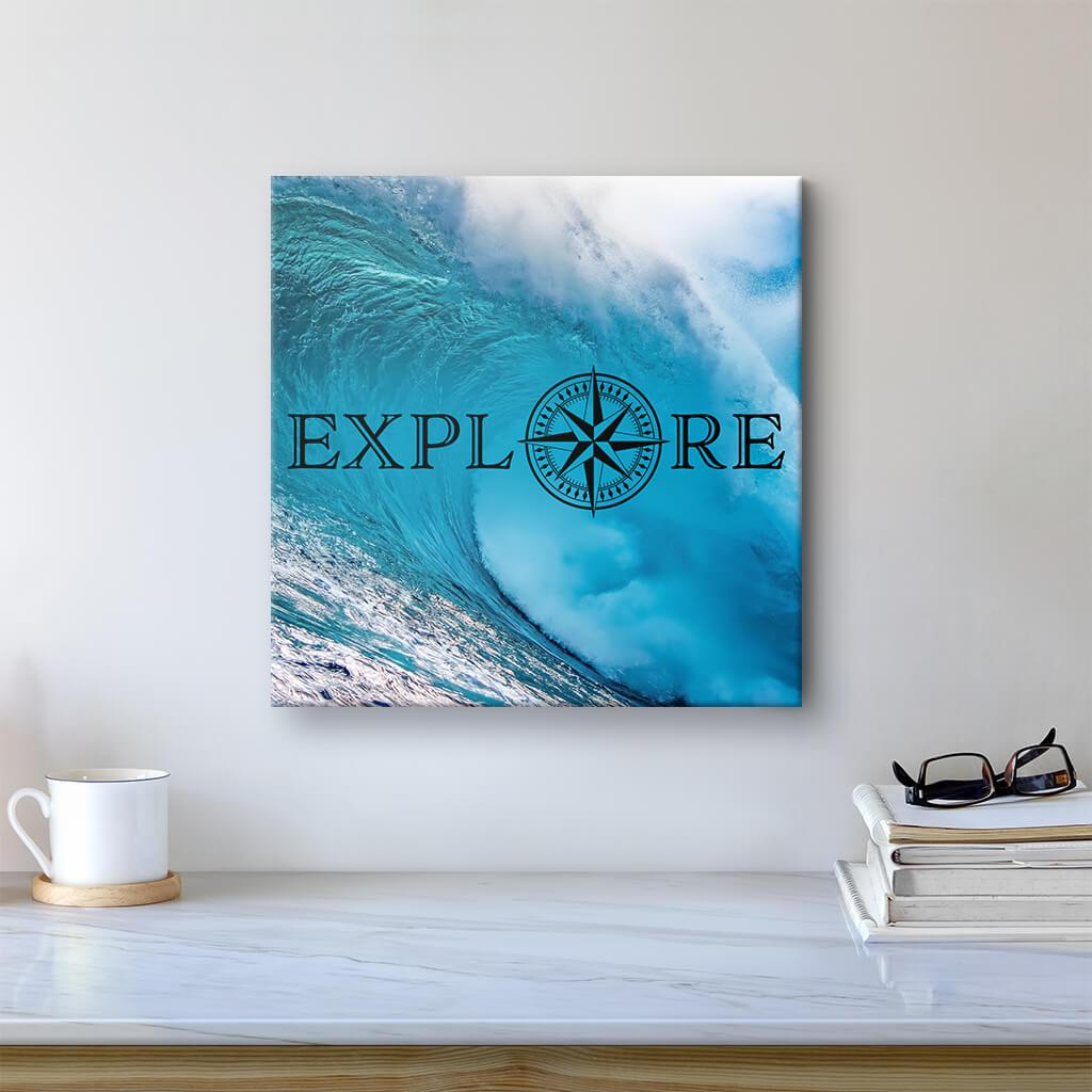 Explore - Travel Art - Ocean Wave