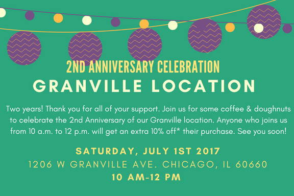 Celebrate our 2nd Year Anniversary (Granville Location)