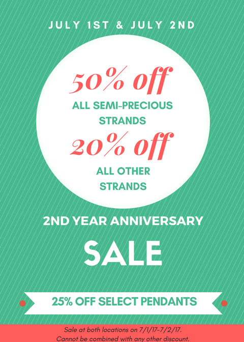 2nd Year Anniversary Sale