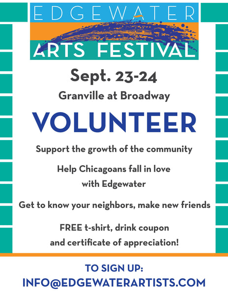 Volunteer for the Edgewater Arts Festival