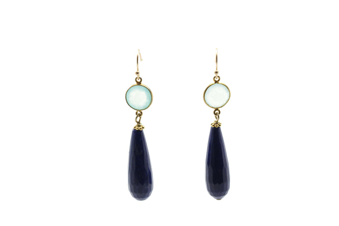 Blue Jade Drop Earrings