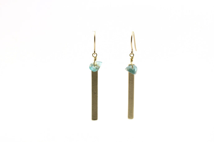 Aquamarine Bar Earrings