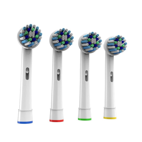 Cross Action Replacement Toothbrush Heads for Oral B, 4 Pack