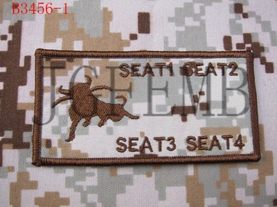U S MARINES USMC Custom name Tapes Cattle brand Tactical morale Military  Embroidery patch