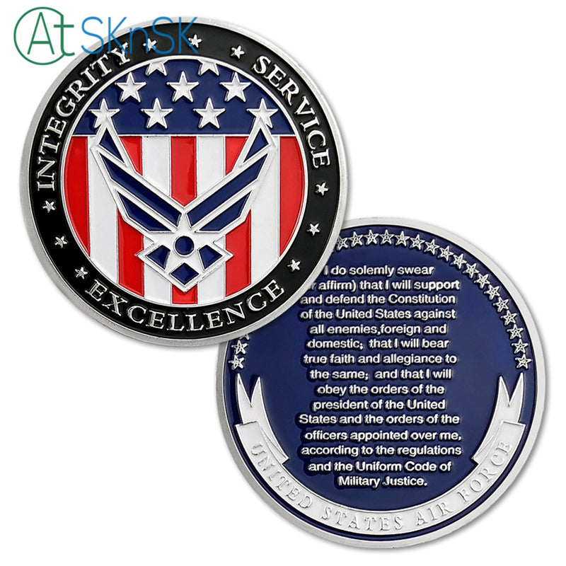 1/3/5/10pcs U S  Air Force Oath of Enlistment Challenge Coin Motivational  Navy Army Commemorative USAF Coin Souvenir Coins Gifts