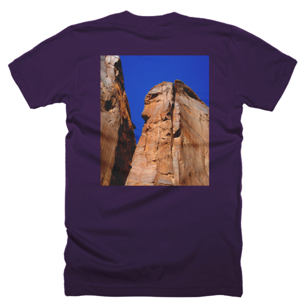"""Monoliths,"" T-Shirt (man/back) - T-shirts - COOLEST PRINTED T-SHIRTS, TANKS, TOTES & HOODIES BY JANET'S ARTWORK - 4"
