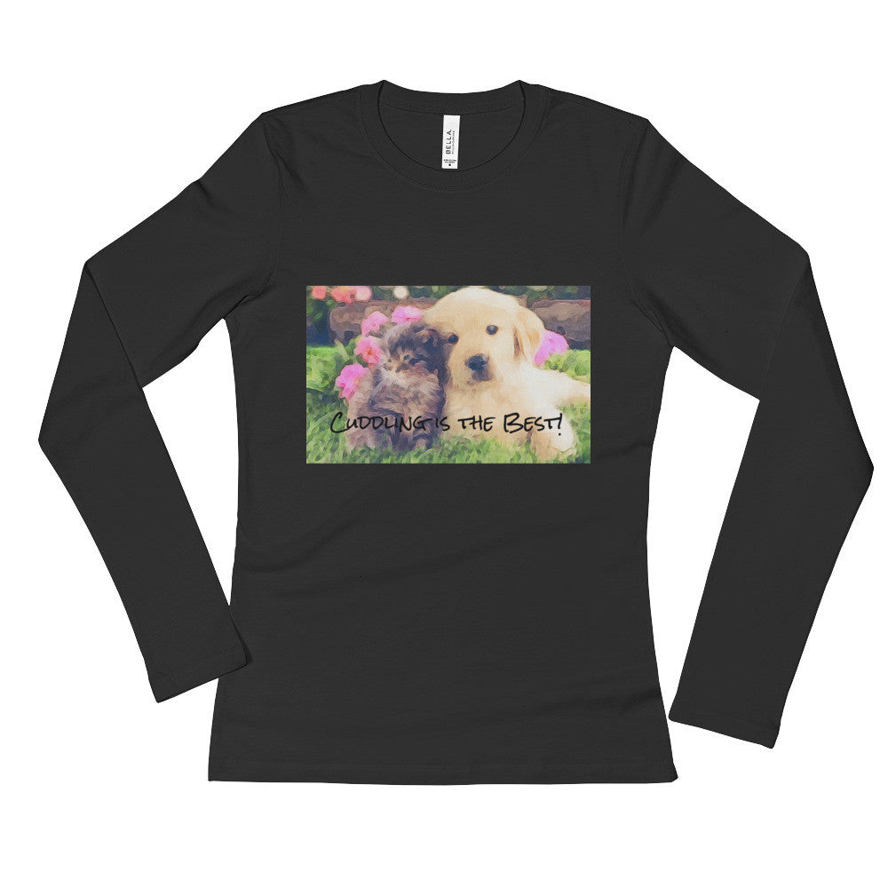 """Cuddle Time,"" Ladies' Long Sleeve T-Shirt"