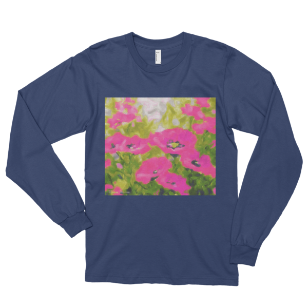 "Light Hearted,""Long sleeve t-shirt (unisex) - long-sleeved T-shirts - COOLEST PRINTED T-SHIRTS, TANKS, TOTES & HOODIES BY JANET'S ARTWORK - 2"