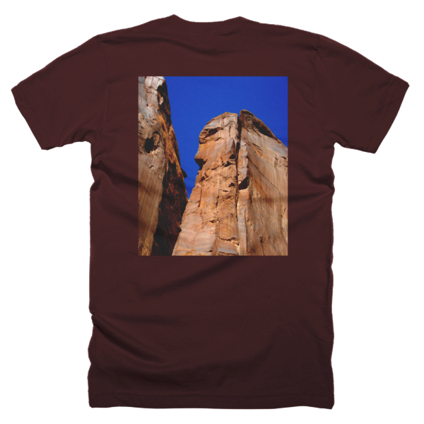 """Monoliths,"" T-Shirt (man/back) - T-shirts - COOLEST PRINTED T-SHIRTS, TANKS, TOTES & HOODIES BY JANET'S ARTWORK - 6"