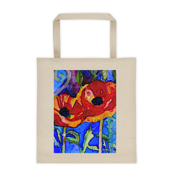 """Passionate Poppies,"" Tote Bag - totes - COOLEST PRINTED T-SHIRTS, TANKS, TOTES & HOODIES BY JANET'S ARTWORK"