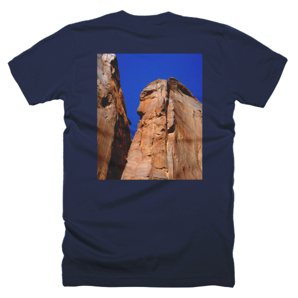 """Monoliths,"" T-Shirt (man/back) - T-shirts - COOLEST PRINTED T-SHIRTS, TANKS, TOTES & HOODIES BY JANET'S ARTWORK - 5"
