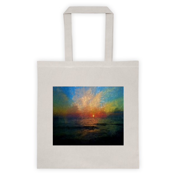 """Striking Sunset,"" Tote bag - totes - COOLEST PRINTED T-SHIRTS, TANKS, TOTES & HOODIES BY JANET'S ARTWORK - 2"