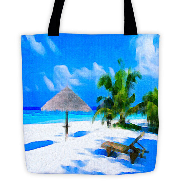 """Sand and Sea,"" Tote Bag - totes - COOLEST PRINTED T-SHIRTS, TANKS, TOTES & HOODIES BY JANET'S ARTWORK"