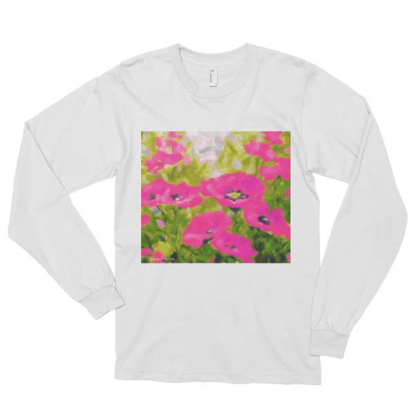 "Light Hearted,""Long sleeve t-shirt (unisex) - long-sleeved T-shirts - COOLEST PRINTED T-SHIRTS, TANKS, TOTES & HOODIES BY JANET'S ARTWORK - 3"