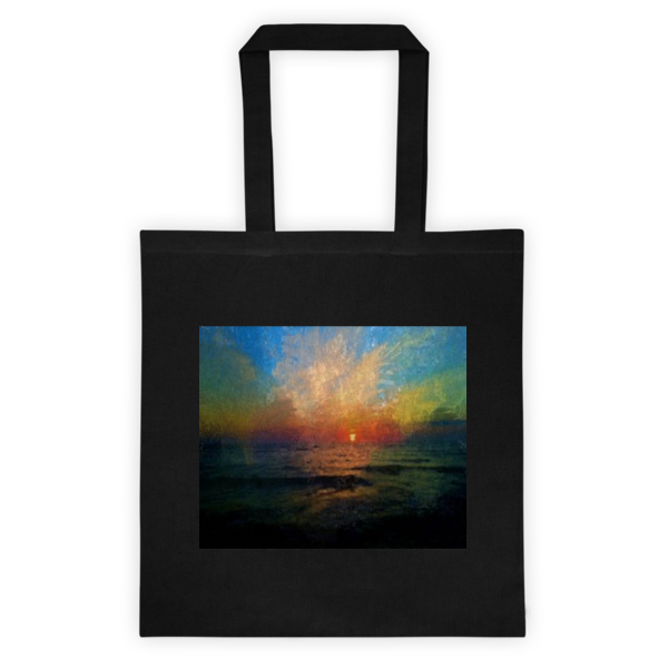 """Striking Sunset,"" Tote bag - totes - COOLEST PRINTED T-SHIRTS, TANKS, TOTES & HOODIES BY JANET'S ARTWORK - 1"