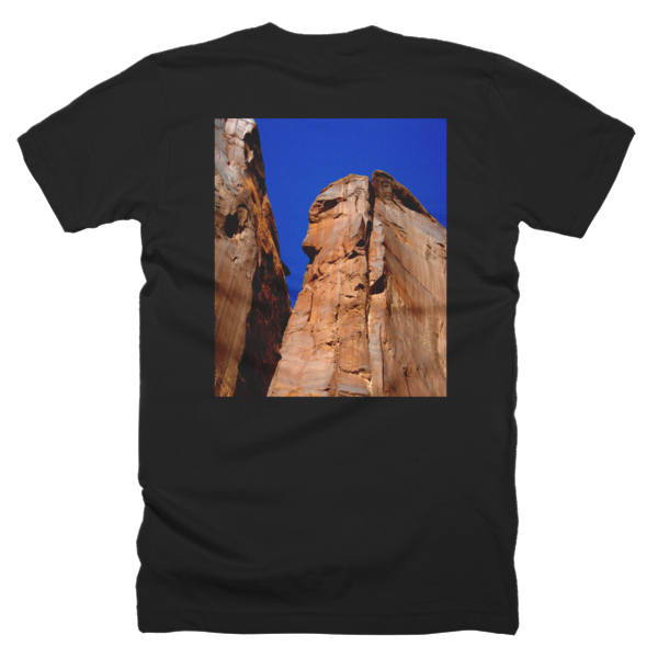 """Monoliths,"" T-Shirt (man/back) - T-shirts - COOLEST PRINTED T-SHIRTS, TANKS, TOTES & HOODIES BY JANET'S ARTWORK - 1"
