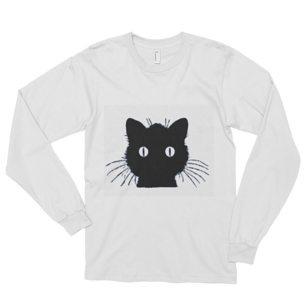 "'Wild Cat,"" Long sleeve t-shirt (unisex) - long-sleeved T-shirts - COOLEST PRINTED T-SHIRTS, TANKS, TOTES & HOODIES BY JANET'S ARTWORK"