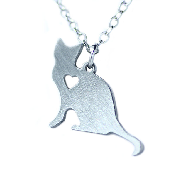 An adorable cat pendant, so fun to wear for casual days.