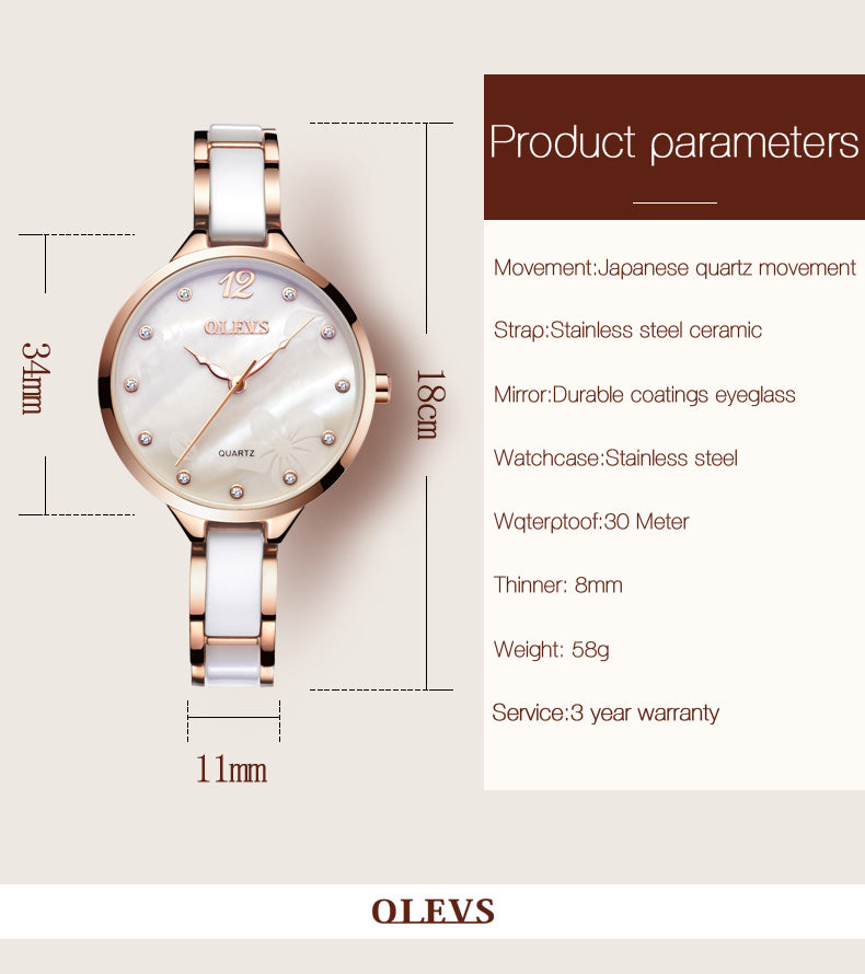 Roman Surface Dial women's Watch