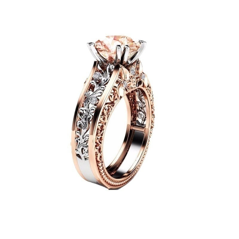 Champagne Cut Charming Rings