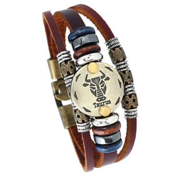 Leather zodiac bracelets for women and men, so stylish and fun to wear.