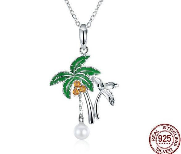 Genuine Sterling Silver Palm Tree Pendant