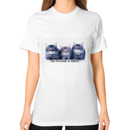 Unisex T-Shirt (on woman) White ART AND SOUL: JANET'S T-SHIRTS & TOTES