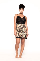 Saxy Roar Cheetah and Black Chemise