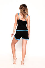 Juliet Black and Blue PJ Short Set