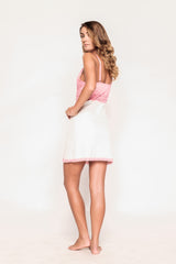 Khloe Pink and White Chemise