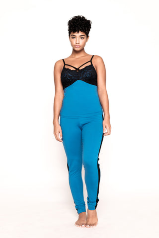 Lights Out- Black and Blue PJ Pant Set