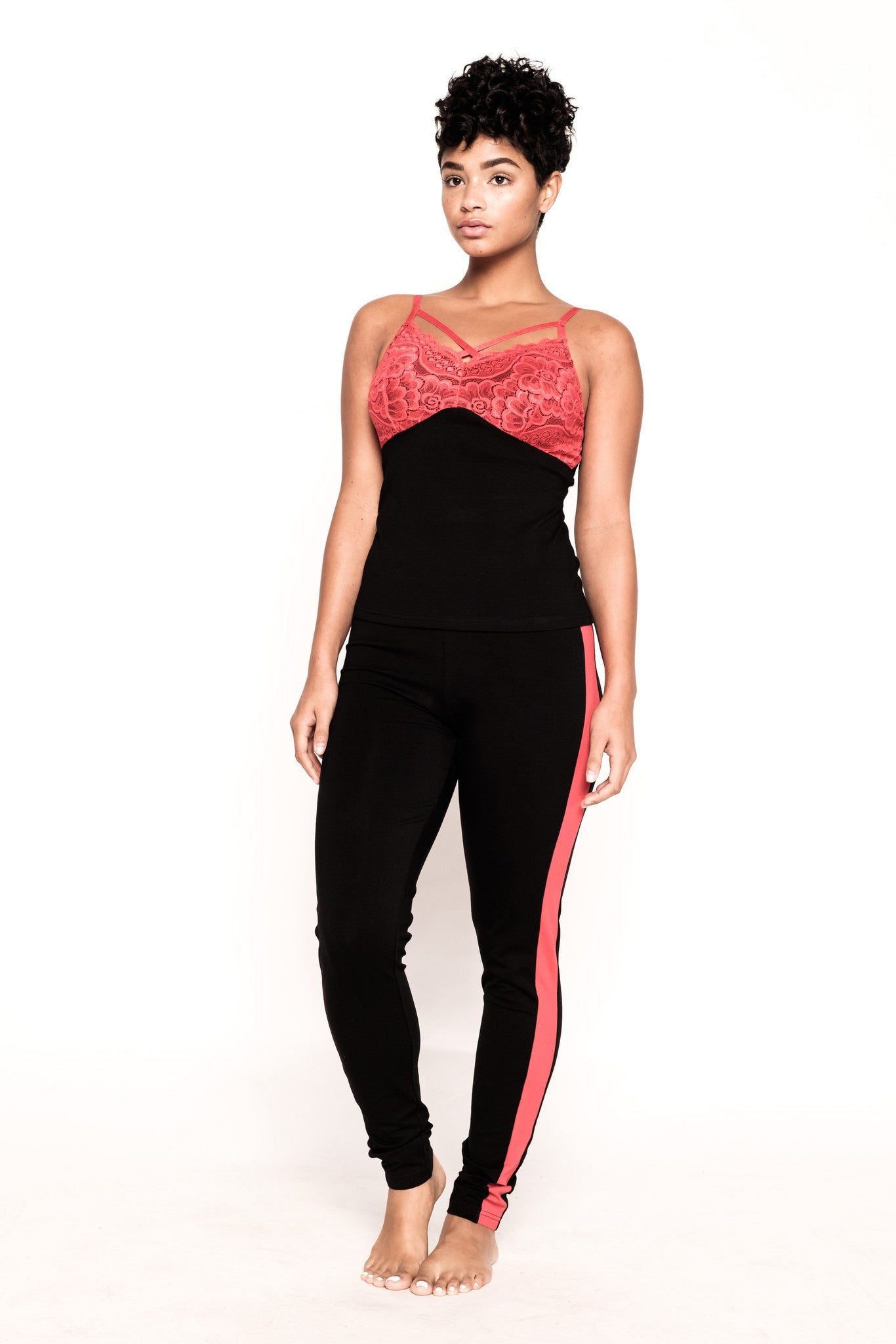 Saxy Marilyn Black and Red PJ Pant Set