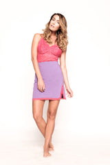 Saxy Dior Pink and Purple Chemise