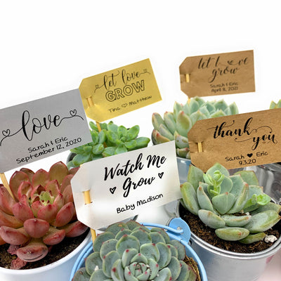 CUSTOM Favor Flag Tags (21 Pack)