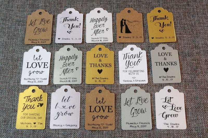 CUSTOM Hanging Favor Tags (20 Pack)