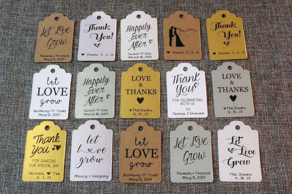 20 Hanging CUSTOM Favor Tags