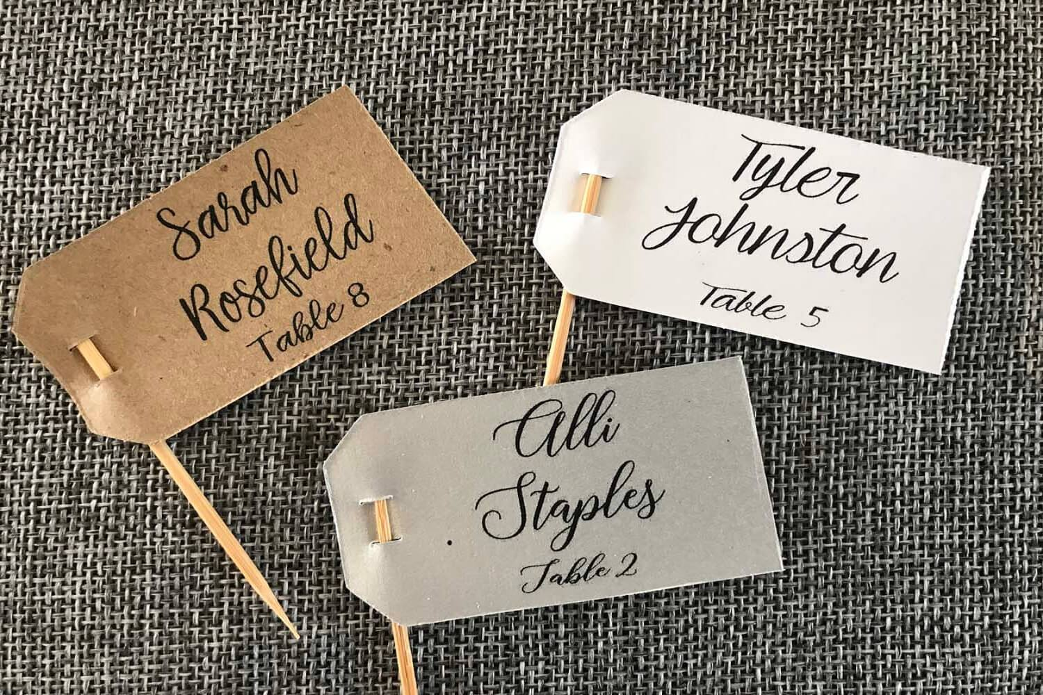 custom name table tags wedding succulent favors for sale bulk