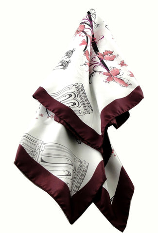 Paris Love - Silk Twill Square Scarf
