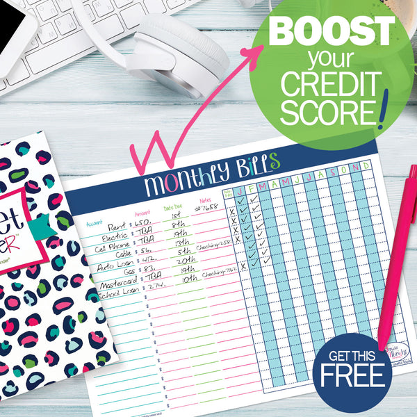 Get your FREE Monthly Bills Printable