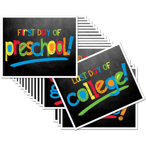 First/Last Day of School Signs - Primary Chalk Text