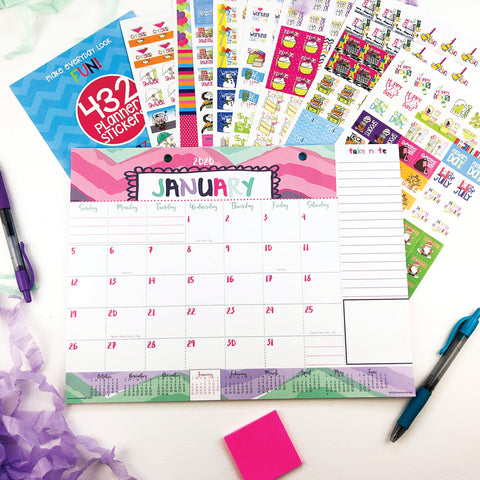 Monthly Desk Calendar + Every Gal Stickers on Amazon Prime Canada