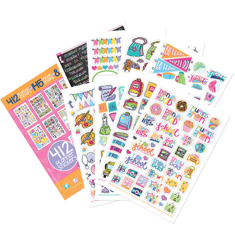 Girl Power School Stickers