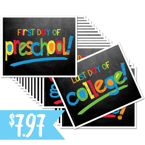 Primary First/Last Day of School Sign Decks on Amazon Prime
